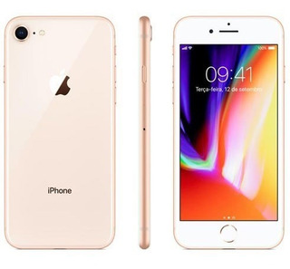iPhone 8 Dourado Tela 4,7 4g 256 Gb Câmera 12 Mp Mq7e2br/a