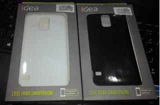 2 Capas Case Tpu Samsung Galaxy S5 Branco E Preto