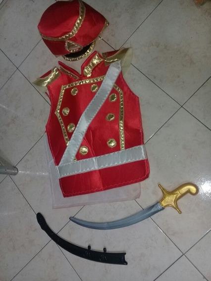Chaleco Sombrero Y Espada Disfraz