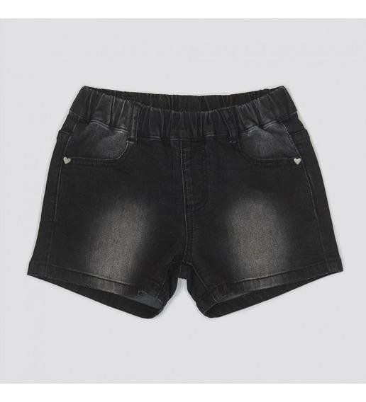 Short Jeans Nena Elastizado Bolsillo Corazón Grisino Verano