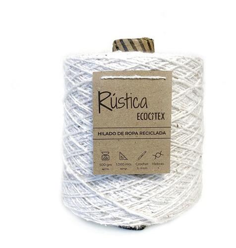 Cono Rústica 500gr, Hilado Ropa Reciclada Ecocitex  Lana