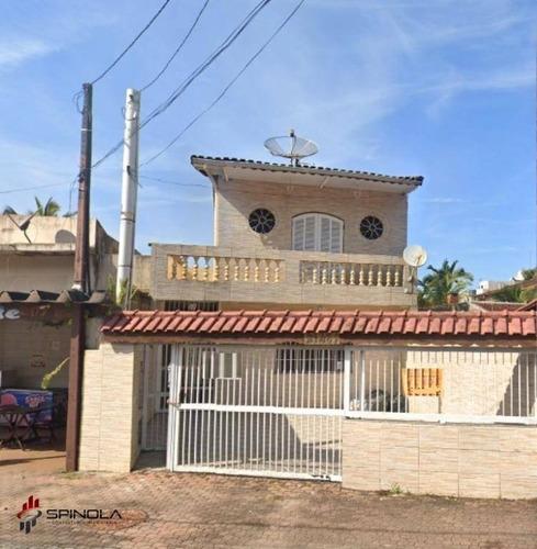 Sobrado Com 3 Dormitórios À Venda, 159 M² Por R$ 430.000,00 - Solemar - Praia Grande/sp - So0057