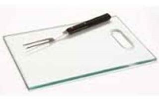 Tábua De Vidro Temperado Para Carnes 8mm Lisa Incolor