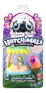 Hatchimals Hatchy Home Breezy Beach Nido Luz Original