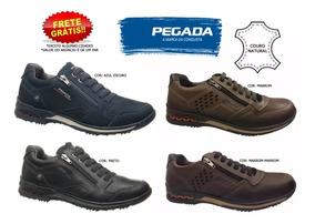 Sapatênis Pegada Sapato Masculino 114807 114852 Couro