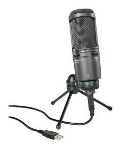 Microfone Condensador Cardióide Audio Technica At 2020 Usb
