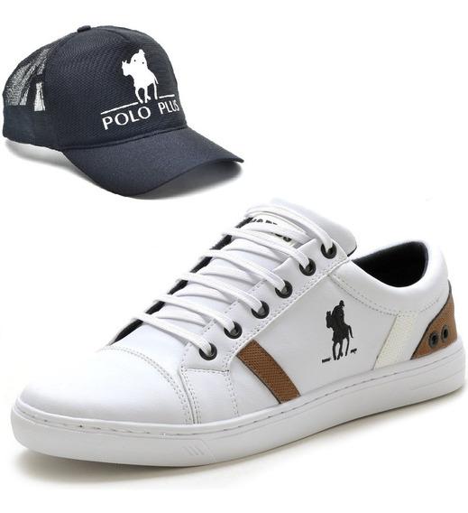 Tênis Sapatenis Polo Plus Masculino Original + Boné