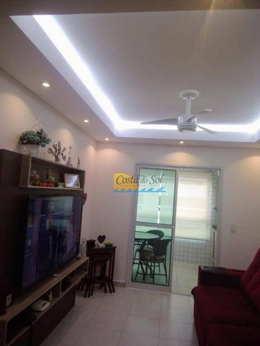 Imagem 1 de 11 de Apartamento Com 3 Dormitórios À Venda, 100 M² Por R$ 570.000,00 - Vila Guilhermina - Praia Grande/sp - Ap14908