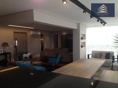 Apartamento No Condomínio 182m², 3 Dormitórios, 3 Suítes, 3 Vagas, Vila Rosália. - Ap0322