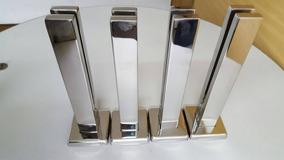 Torres Ou Colunas Aço Inox 304 Para Vidro 40cm