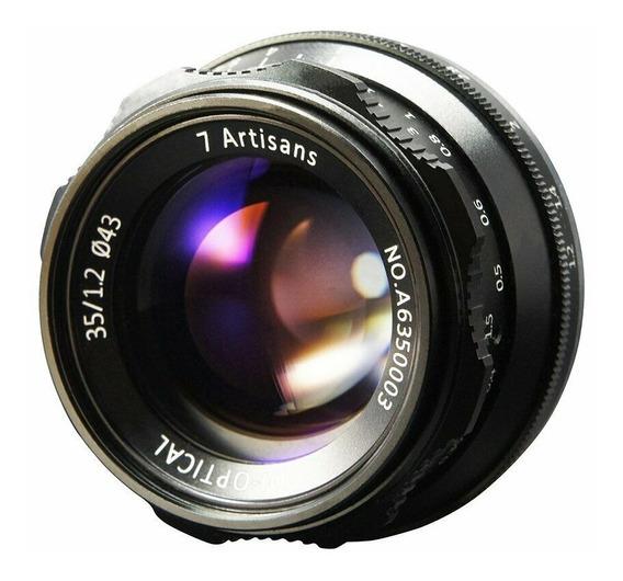 Lente 7 Artisans 35mm 1.2 P/ Fujifilm Fuji X-t2 X-t3 X-pro2
