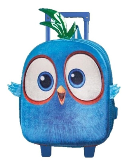 Mochila Hatchlings Angry Birds Kinder Con Carro Amp291