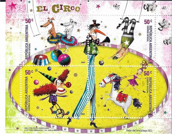 Estampillas Argentina Año 2004 Circo Hoja Bloque Gj Hb 160