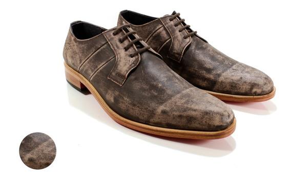 Zapato Hombre Oxford Cuero Vacuno Diseño Elmo By Ghilardi