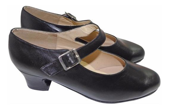 Zapato De Danza Folklore Cuero Mujer Y Niña - Calzados Union