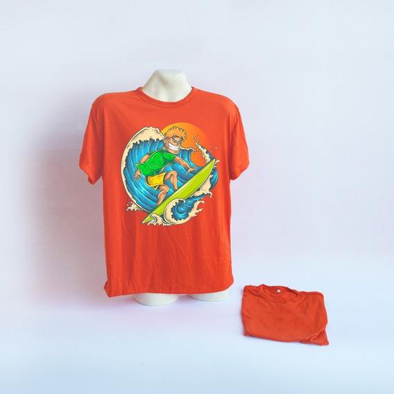 Remera Naranja Sublimable Talle L X25