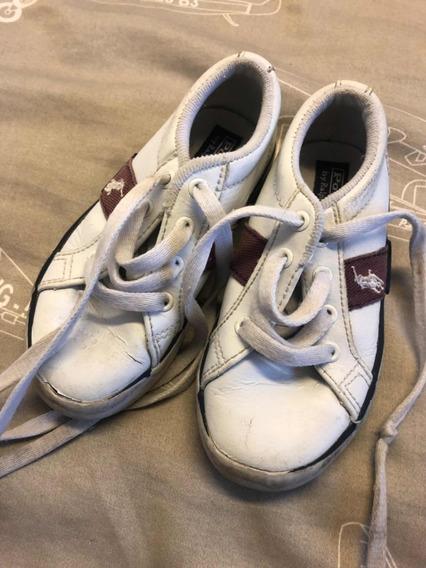 Zapatillas De Cuero Nene Polo Importadas En Excelente Estado