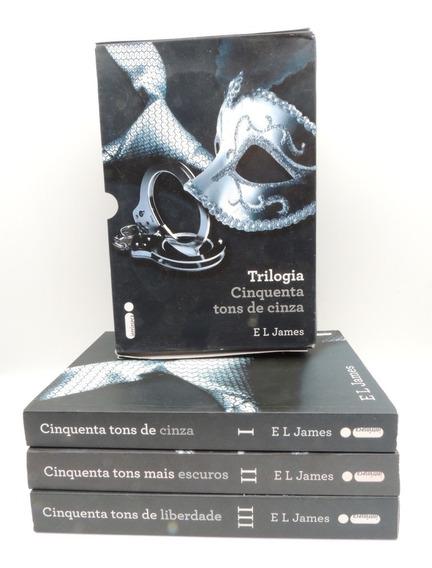 Livro Trilogia Cinquenta Tons De Cinza E L James 2012