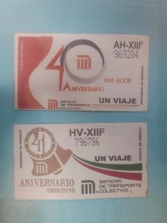 Boletos Del Metro. Varios Aniversarios