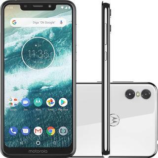 Smartphone Moto One 64gb/4gb Ram Dual Chip Branco Motorola