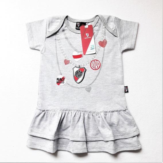 River Vestido Bebe Beba Nena Body Ajuar * Licencia Oficial
