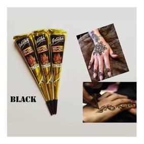 Kit 12 Tubos Henna Preta Tatuagem Sobrancelha+aplicador