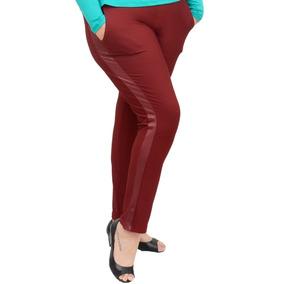 Roupa Feminina Calça Skinny Det Cirre Plus Size Cós Alto 56+