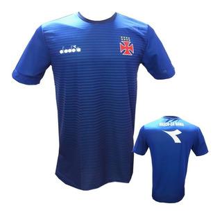 Camisa De Treino Azul Do Vasco Diadora Transição 2018 Tam M