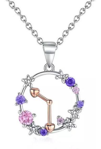 Cordão De Prata Relógio Floral Com Zircônias Estilo Pandora