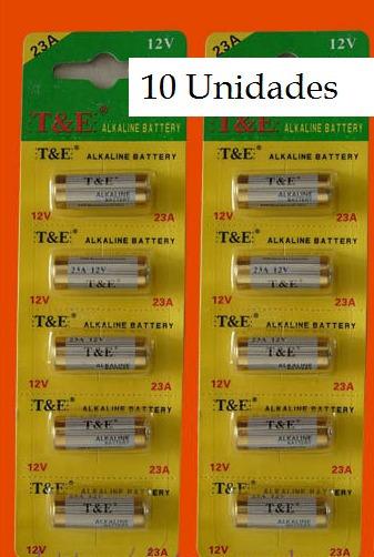 Pilha Alcalina Gp A23 12v Gp 23a C 10 Unidades