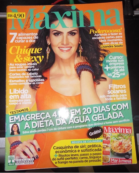 Revista Máxima 30 Novembro 2012 Lisandra Souto Max Receitas