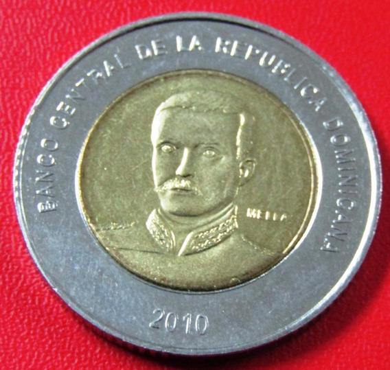 República Dominicana Moneda Bimetalica 10 Pesos 2010 Km #106