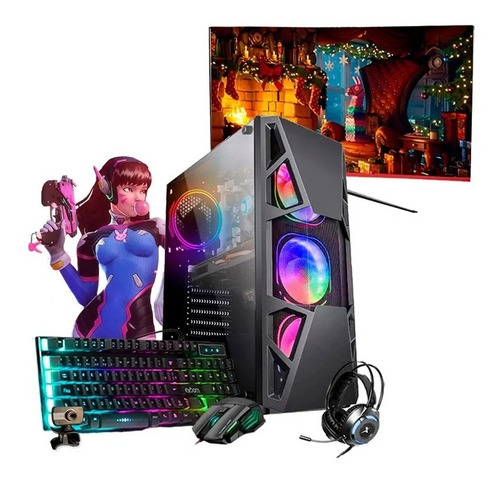 Imagem 1 de 6 de Pc Gamer Completo I7 Gtx 750ti 16gb Ssd 480gb Monitor 19
