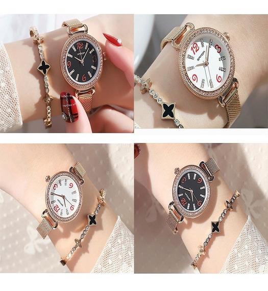 Relógio Feminino Original Importado Elegante Luxo Brilhos