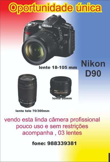 Camera Fotografica Nikon D90 Com 3 Lentes