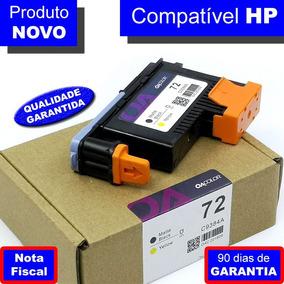 Cabeça De Impressão Hp 72 C9384a Preto Mate E Amarelo