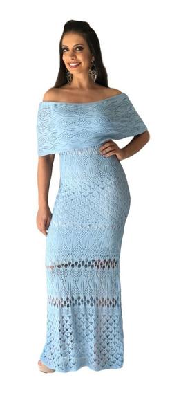 Vestido Longo De Tricô Tricot Ensaio Gestante Ciganinha