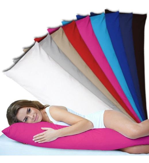 Travesseiro Corpo 100% Silicone + Fronha Zíper Xuxão 1,35x48