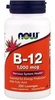 Vitamina B12 1000mcg & Acido Fólico 250 Cap Sublingual - Now
