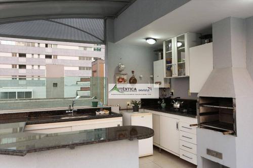 Imagem 1 de 23 de Cobertura Com 3 Dormitórios À Venda, 197 M² Por R$ 1.080.000 - Cruzeiro - Belo Horizonte/mg - Co0234