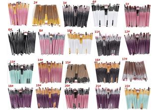 Set De 20 Brochas Para Maquillaje