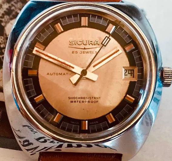 Relógio Sicura By Breitling Automático Mint 25 Rubis Diver