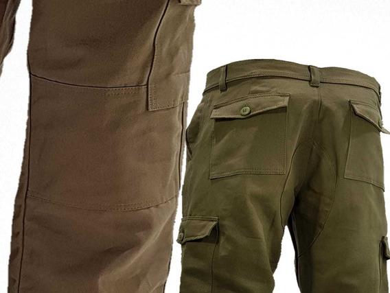 Pantalon Cargo Verde Reforzado Linco El Mejor T.40-48