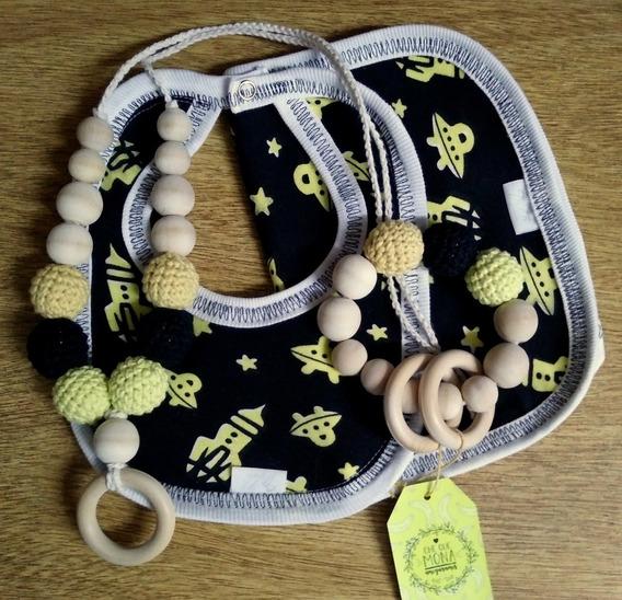 Babero, Babita, Collar De Lactancia/porteo, Sonajero Crochet