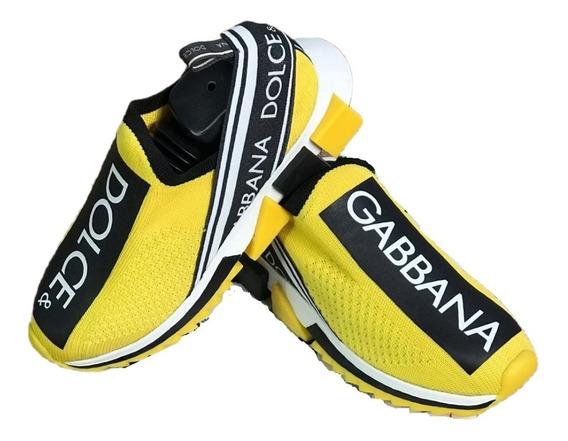 Tênis Dolce & Gabbana Unissex Frete Grátis Tenis Amarelo