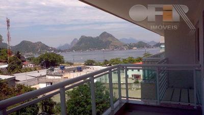 Apartamento Com 2 Dormitórios À Venda, 70 M² Por R$ 735.000 - Charitas - Niterói/rj - Ap0742