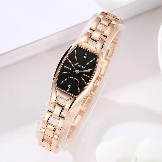 Relógio Feminino Pequeno Lindo Cor Rosé Delicado + Caixinha