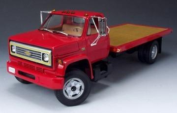 Mini Caminhão Chevrolet Prancha 1975 Highway 61 Red 1:16
