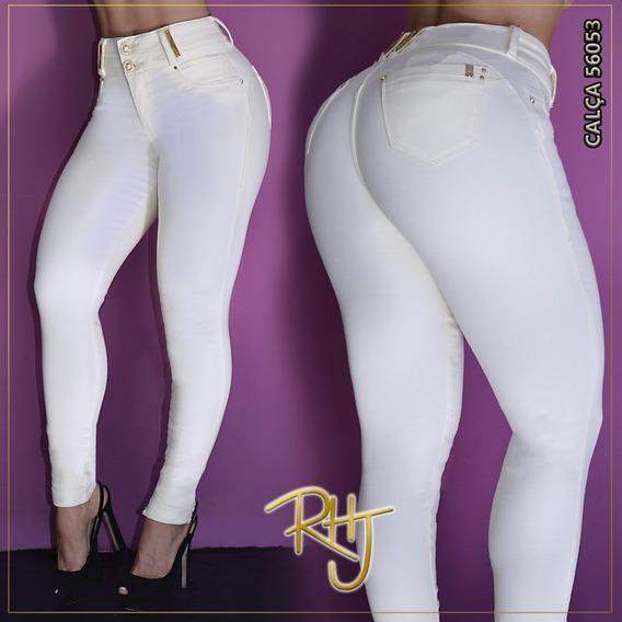 Calça Jeans Feminina Rhero Jeans Estilo Pit Bull Com Bojo