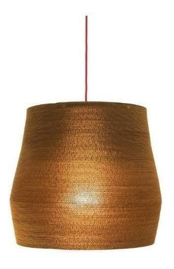 Lámpara De Colgar Cono Estepa Cc60 (cable Rojo) Jmp